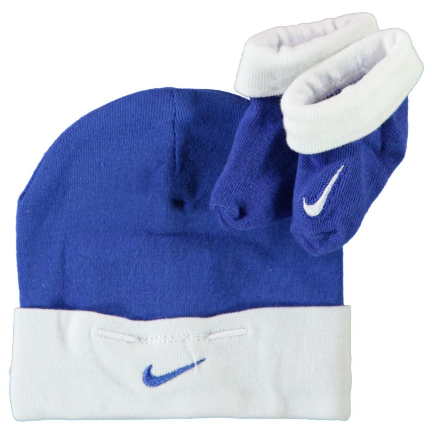 Nike - Juego de Botines y Gorro para bebé (0-6 Meses), Color Azul ...