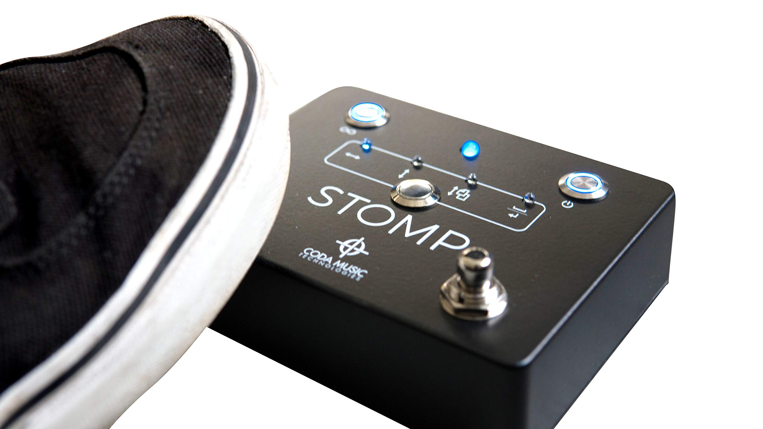 STOMP Bluetooth 4.0 Page Turner & App Controller Foot Pedal for Tablets by Coda Music Technologies by Coda Music Technologies