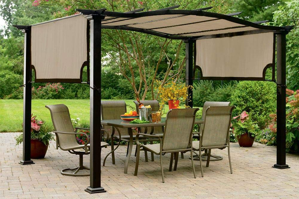 The Outdoor Patio Store Kmart Essential Garden Curved Pergola Canopy - High Grade 300D