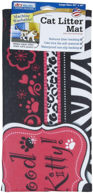 Drymate Good Kitty Cat Litter Mat, Pink by Drymate (Image #1)