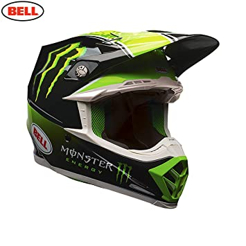 BELL Moto-9 Tomac réplica Casco de Motocross, Black Green, Medium
