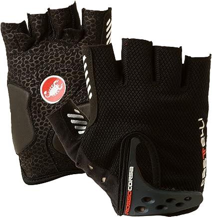 Black Castelli Rosso Corsa Cycling Gloves Mitt Size Medium