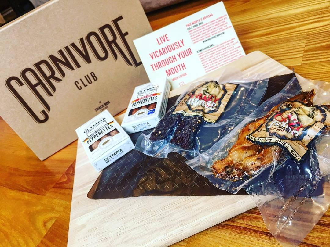 Carnivore Club Gift Box: Jerky & Meat Sticks Sampler - 4 to 6 Meat Snacks - Great Gift For Men & Women - Comes in Premium Gift Box - Birthday