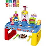 UNIH Playdough Sets for Toddlers Playdough Table with Storage and Dough Tool Molds Kit for Kids Boys Girls
