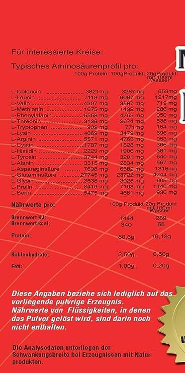 Proteína 90 Proteínas 5 kg C6 5000 g Vainilla aspartamfrei ...