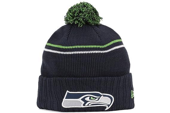 c56687dc74d6 Image Unavailable. Image not available for. Color  Seattle Seahawks New Era  NFL  quot Logo Crisp quot  Cuffed Knit Hat ...