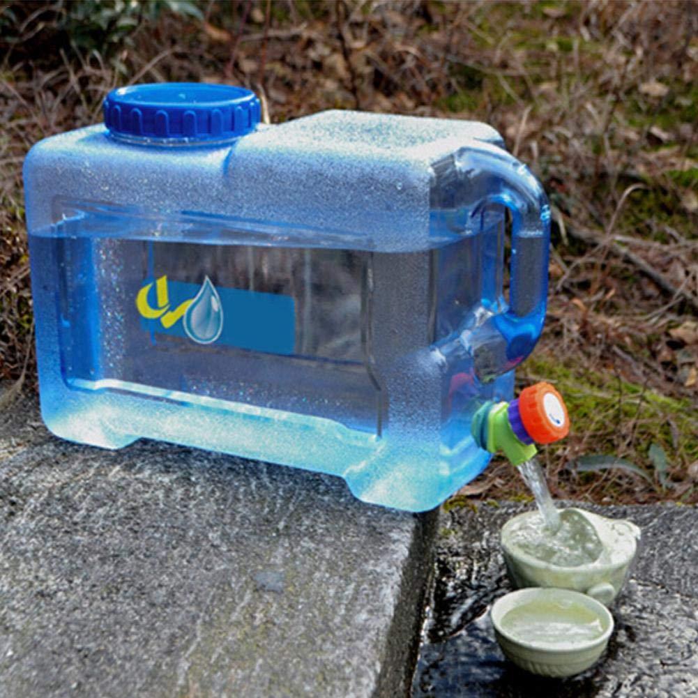 Jerrican Alimentaire Camping avec Un Robinet 12L Bidon deau avec Bec Verseur en Plastique Epais pour Le Transport deau 1pc Parfait pour Voyage Voiture Maison