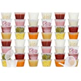 50 Pack BPA-Free Baby Food Freezer Storage Containers Hinged Lids (3 oz) Labels | Leak-Proof | Travel Snack Cups | Store…