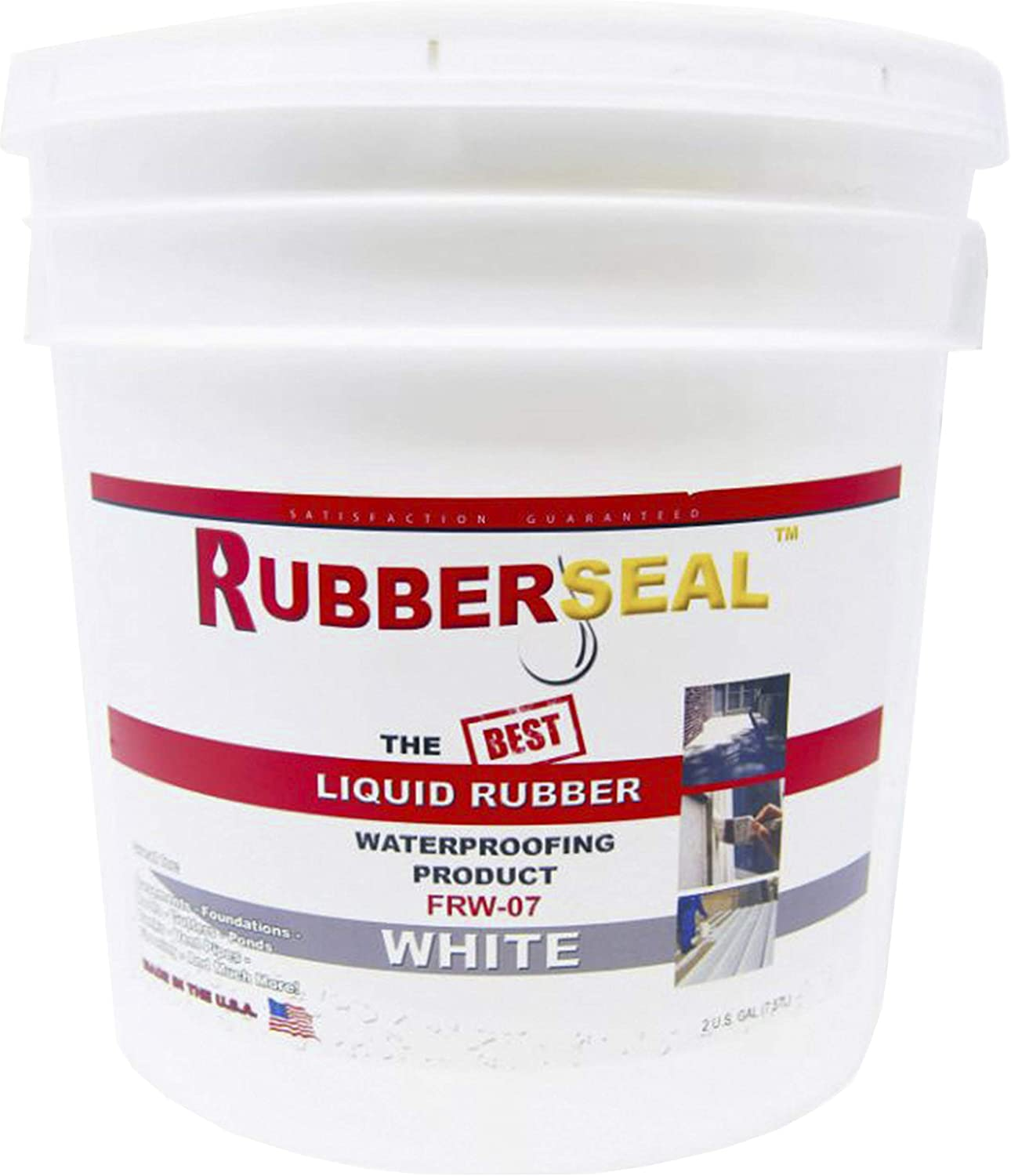 Rubberseal Liquid Rubber Waterproofing and Protective Coating - Roll On WHITE 2 GALLON