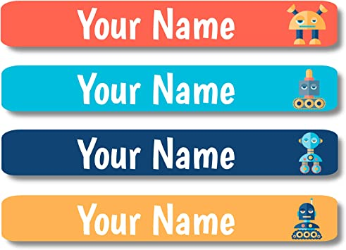 New 120 WATERPROOF name labels VALUE PACK