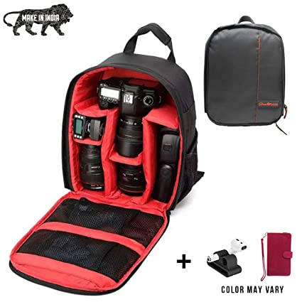 Buy Brain Freezer J DSLR SLR Camera Lens Shoulder Backpack Case for Canon  Nikon Sigma Olympus Camera Red Online at Low Price in India  ccfbe562543e0