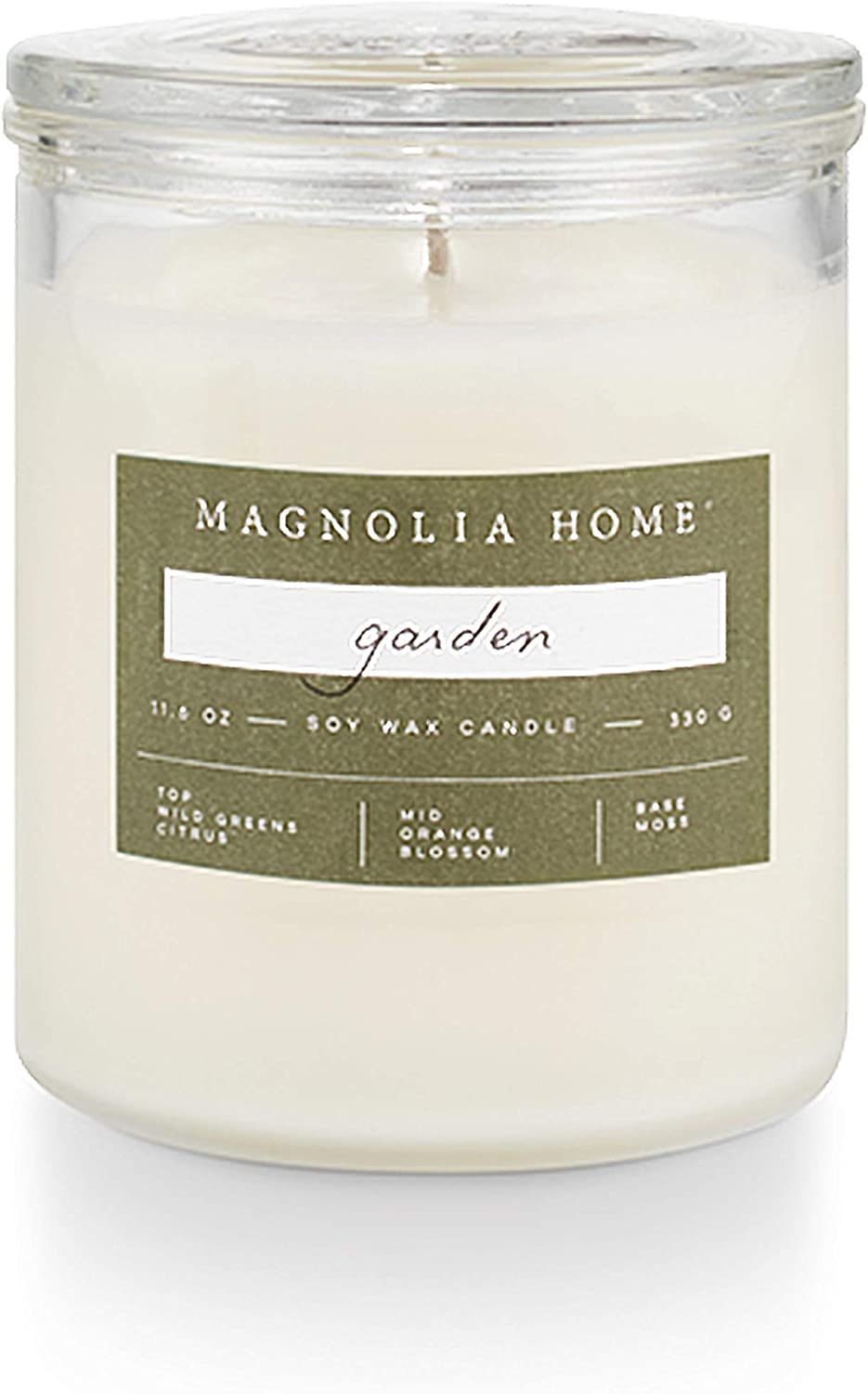 Magnolia Home Garden Lidded-Glass Candle Home Decor by Joanna Gaines