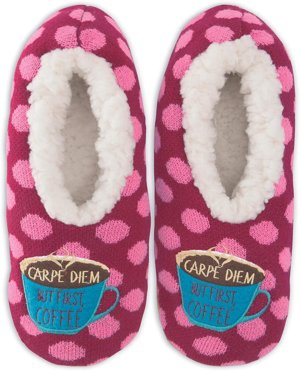 K Bell Womens But First Coffee Slippers