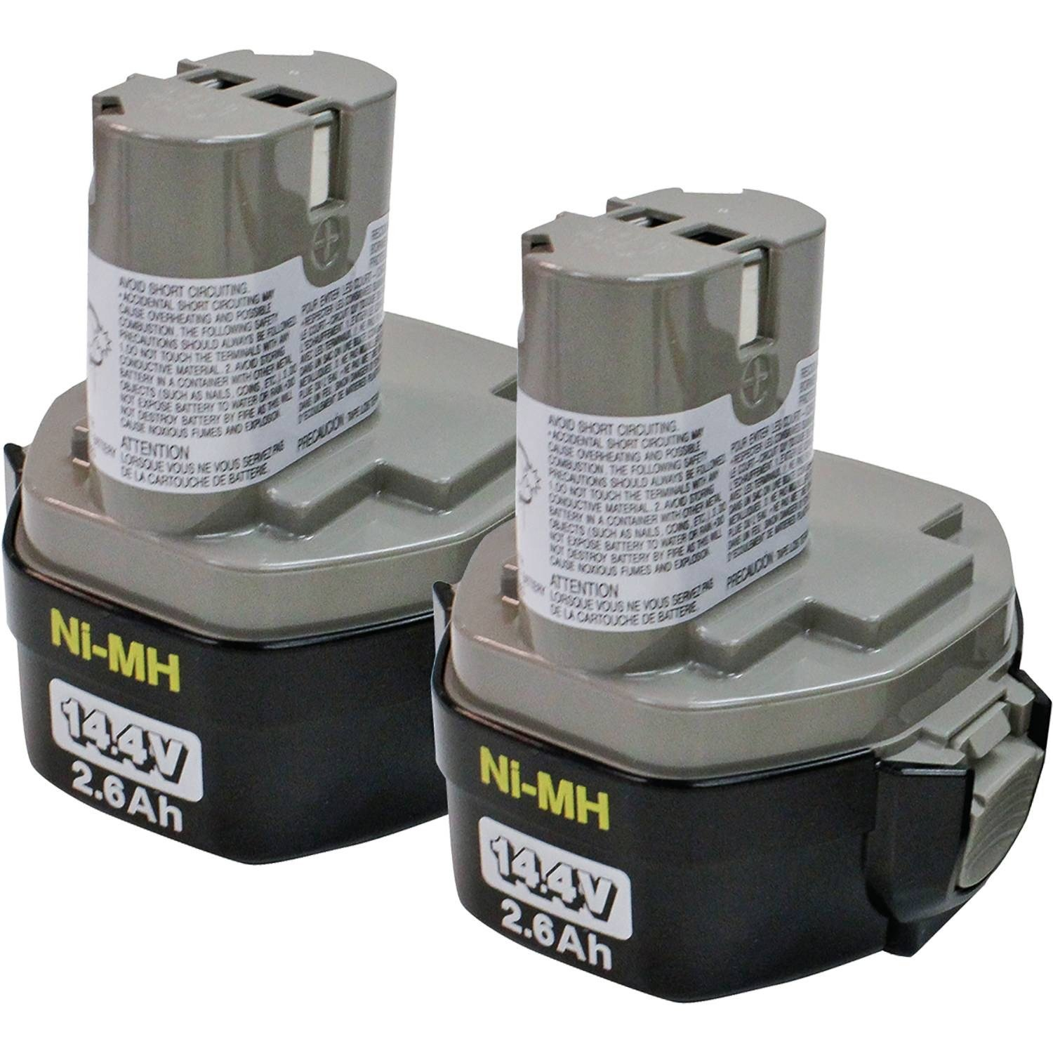 Makita 194157-8 1434 14.4-Volt 2-3/5-Amp Hour NiMH Pod Style Battery, 2-Pack by Makita