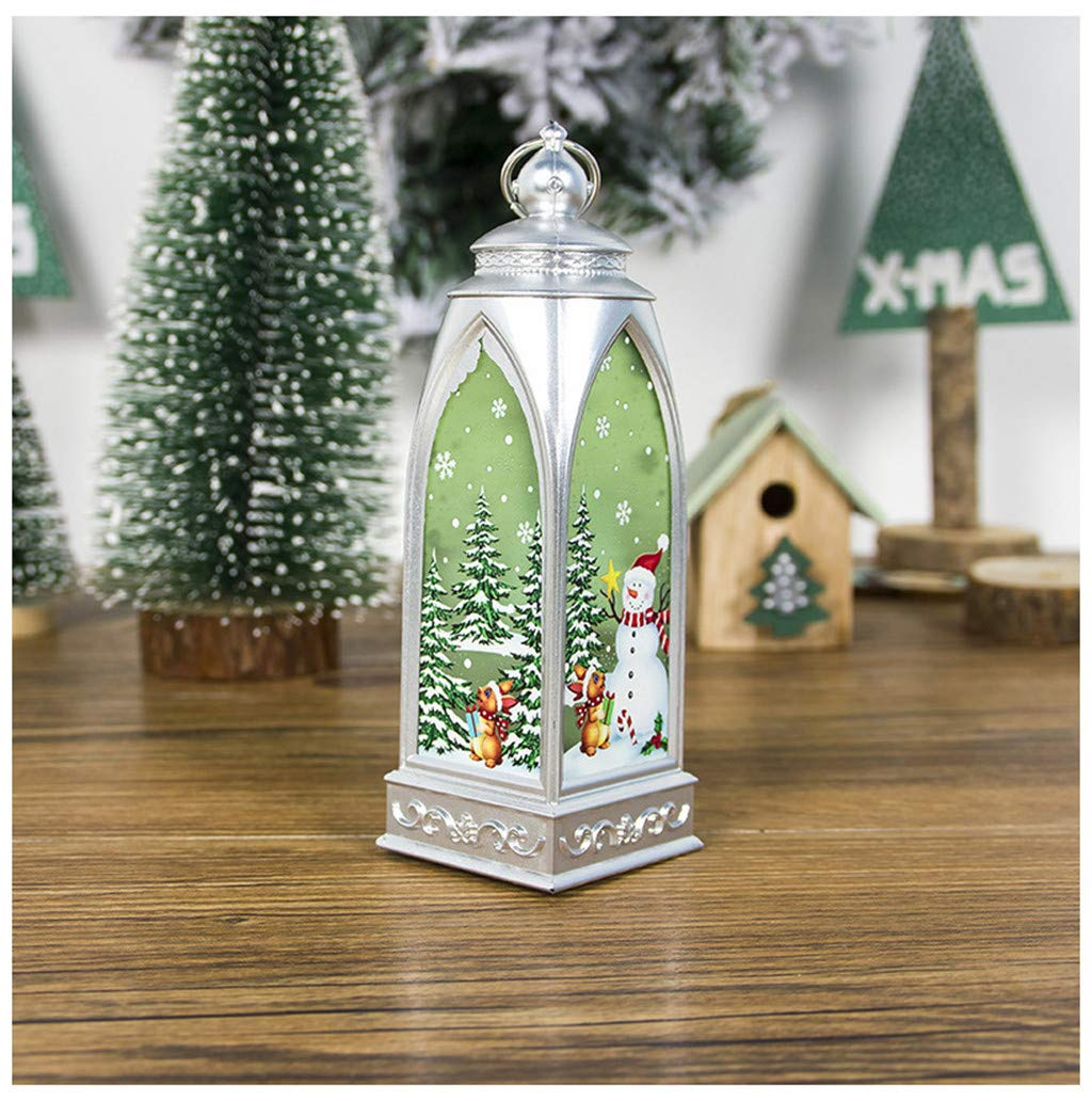 Rustic Christmas Lantern Decorative Hanging Pendant Lamp Christmas Decoration Outdoor Christmas Party Decorations Indoors Window Decorations