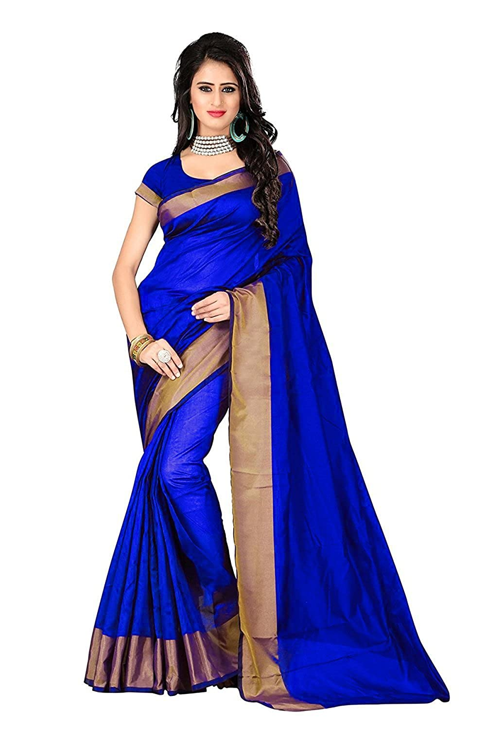 Womans cotton silk saree