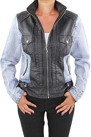 30d1421dec5e36 Sotala Damen Jeansjacke Damenjacke Kurze Denim Stretch Jeans Jacke  Übergangsjacke Blau N53 M/38