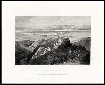 Antique Print-jericho-israel-fenn-cousen-1874 Asia Maps
