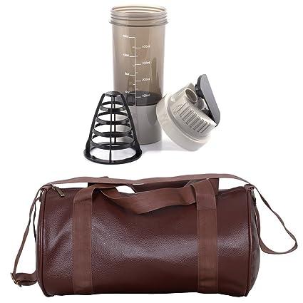 CP Bigbasket Combo Set Leather Soft Gym Bag (Brown) bffe716ab405e