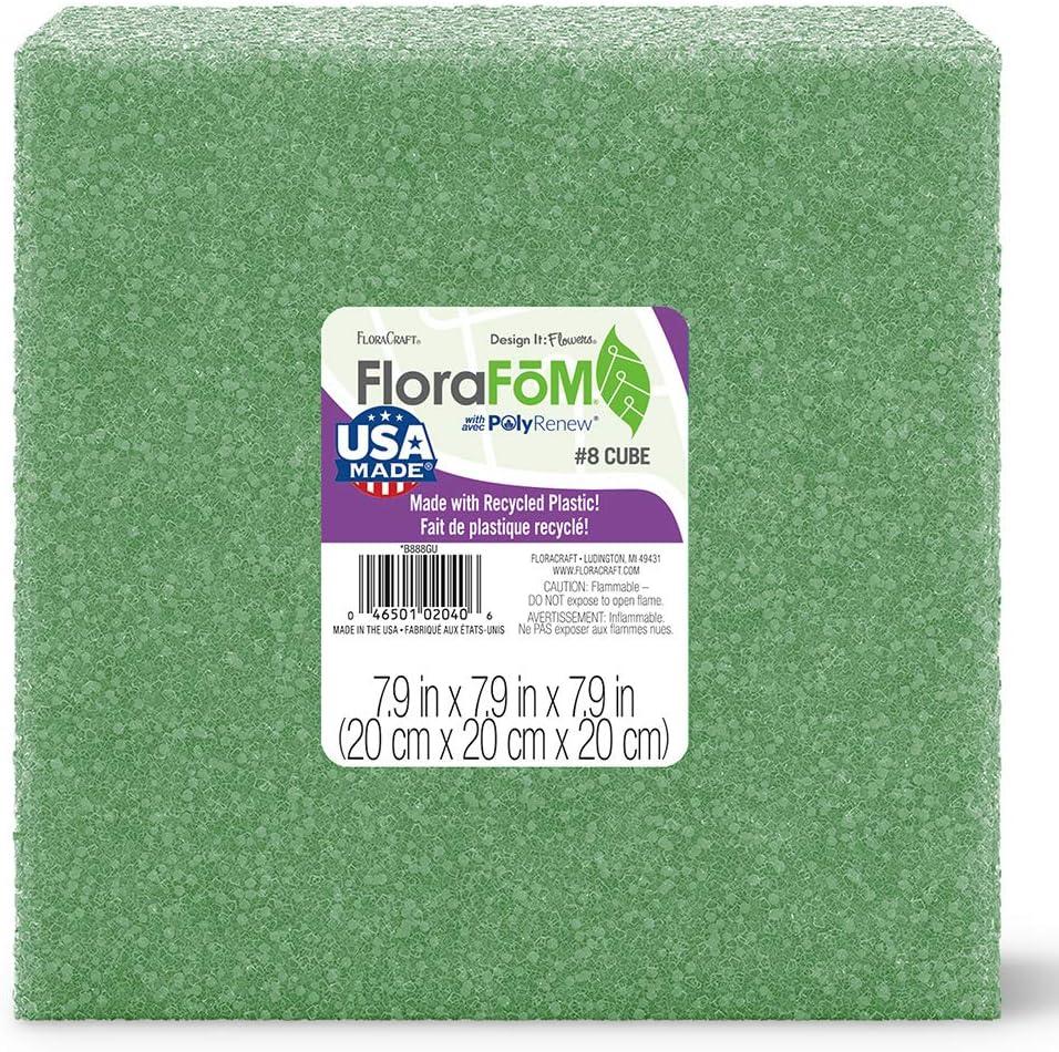 FloraCraft FloraFōM Cube 7.9 Inch x 7.9 Inch x 7.9 Inch Green