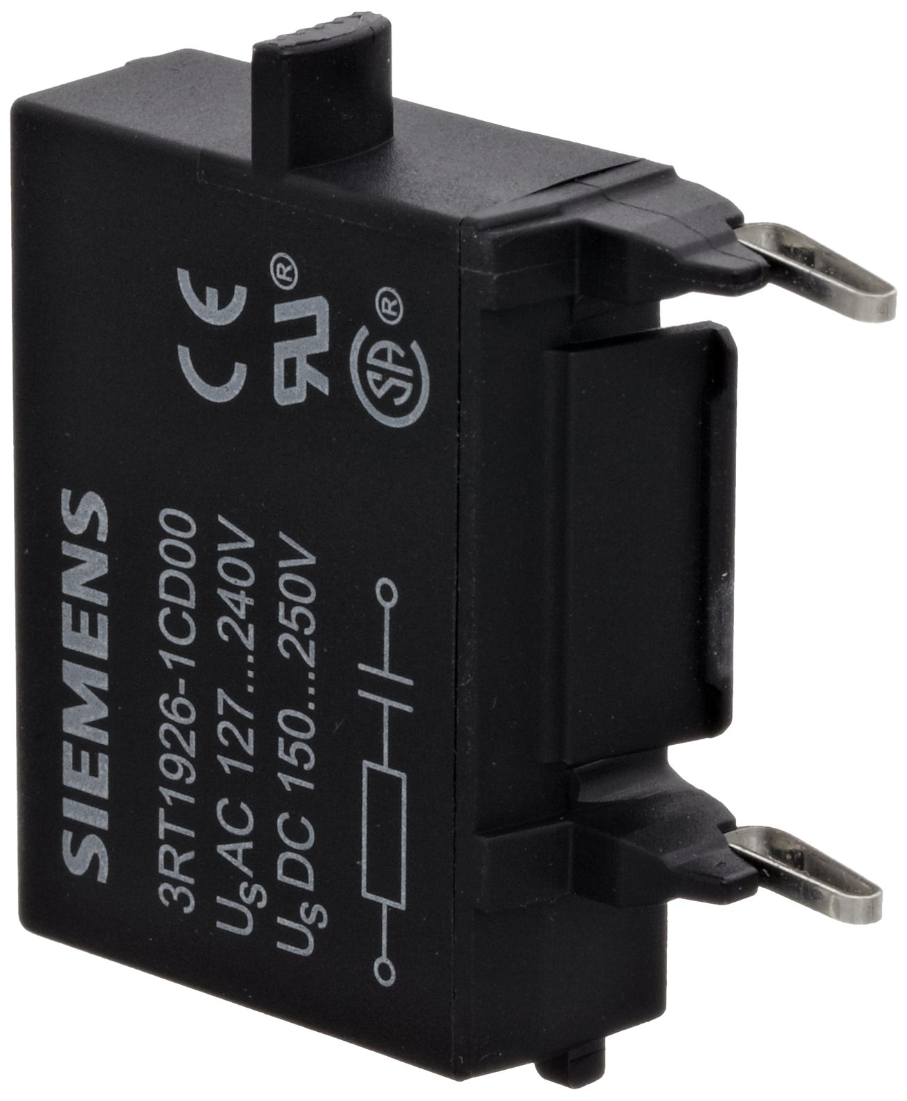 Siemens 3RT19 26-1CD00 Surge Suppressor, RC Element Design, S0 Size, 127-240VAC Rated Control Supply Voltage