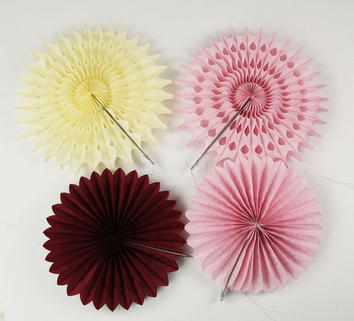 Amazon.com: Burgundy Pink Bridal Shower Decorations Pinwheels Paper ...