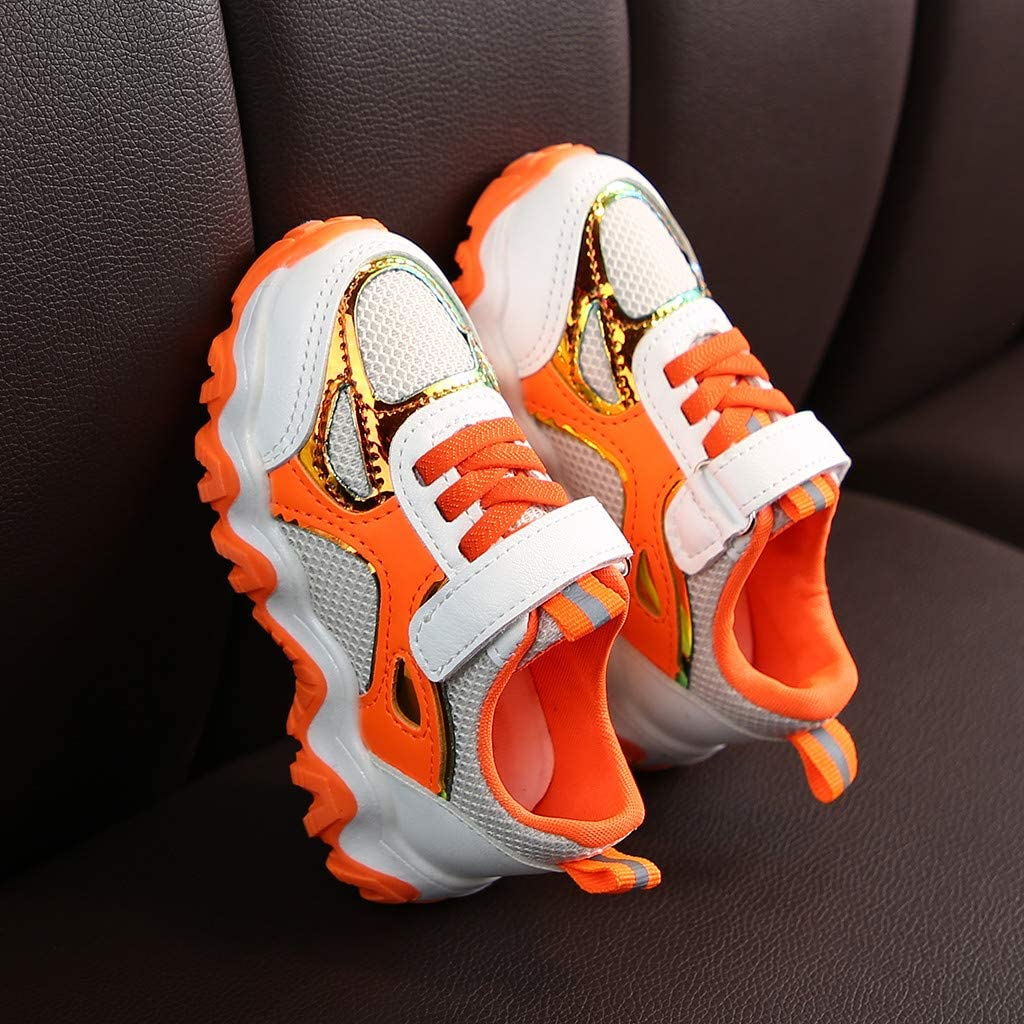 Toddler Girls Boys Fashion Sneakers Tennis Shoes for 1-6 Years Old Kids Mesh Casual Sports Walking Shoes