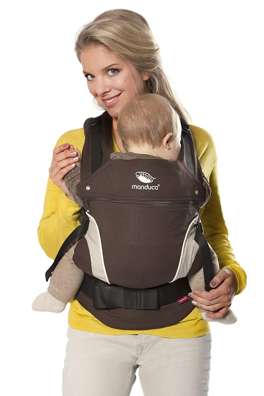 manduca Babytrage sand (Auslaufmodell) Bauchtrage Hüft- und Rückentrage, beige MANS-NL