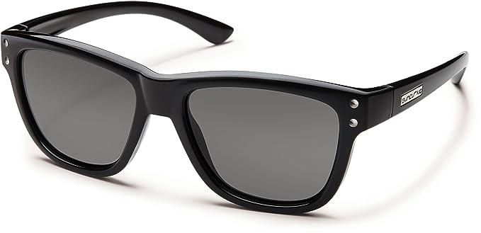 8807d36e237b5 Amazon.com  Suncloud Carob Polarized Polycarbonate Sunglasses (Black ...
