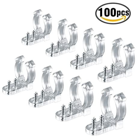 Led rope light clips holder plastic mounting clips for led light led rope light clips holder plastic mounting clips for led light wall mount and bar aloadofball Choice Image