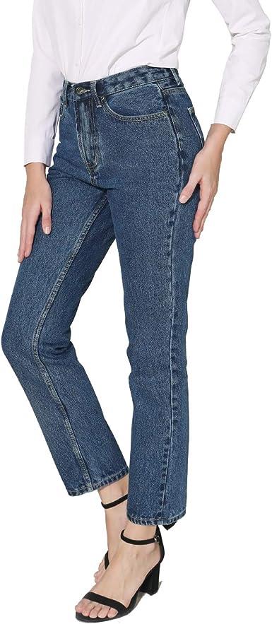 Women's Straight Leg Jeans High Rise 90s Vintage Mom Jean Boyfriend Denim  Pants (14 Short, Dark Denim) at Amazon Women's Jeans store