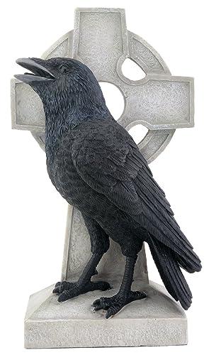 Raven on Cross Figurine Display