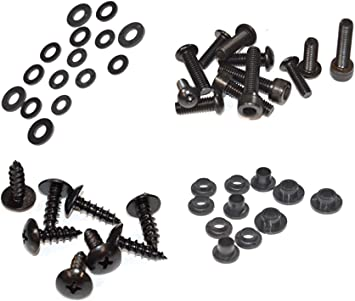 Fasteners Black Standard Motorcycle Fairing Bolt Kit For Kawasaki Ninja ZX-6R 2009-2012 Body Screws and Hardware