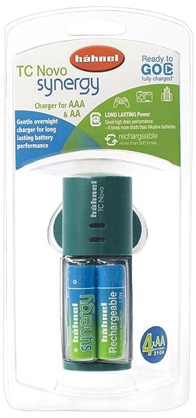 Hahnel TC Novo Sinergia AA y cargador de batería AAA con 4x ...