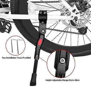Pata de Cabra de Bicicletas, Pieza de Goma Antideslizante Universal Ajustable de la Altura Instalación