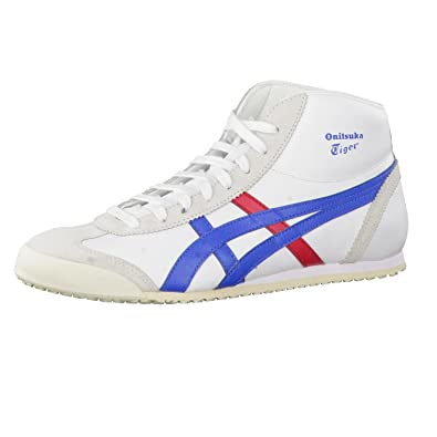 onitsuka tiger mexico mid runner - sneaker high - white/ daphne