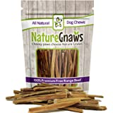 """Nature Gnaws Extra Thin Bully Sticks 5-6"""" - 100% All-Natural Grass-Fed Free-Range Premium Beef Dog Chews - For Small Breeds and Light Chewers"""