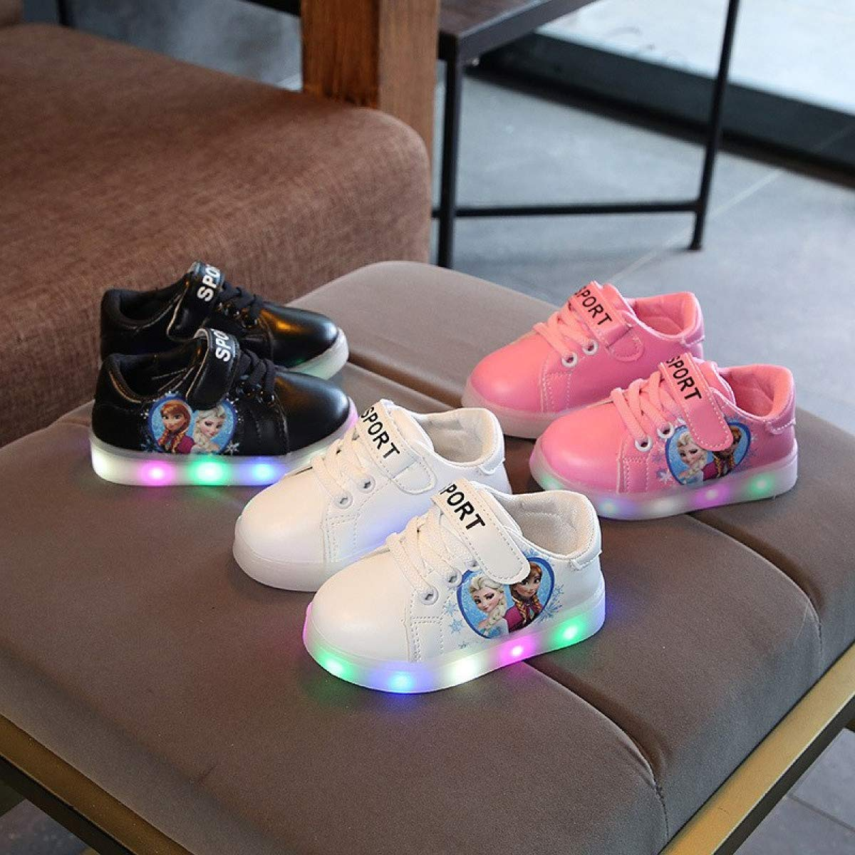 MELLOW SHOP Kids LED Shoes / /  New Spring Autumn Kids Led Shoes Fashion Glowing Sneakers for Girls Boys Mesh Children Shoes Led Luminous Shoes Sneakers
