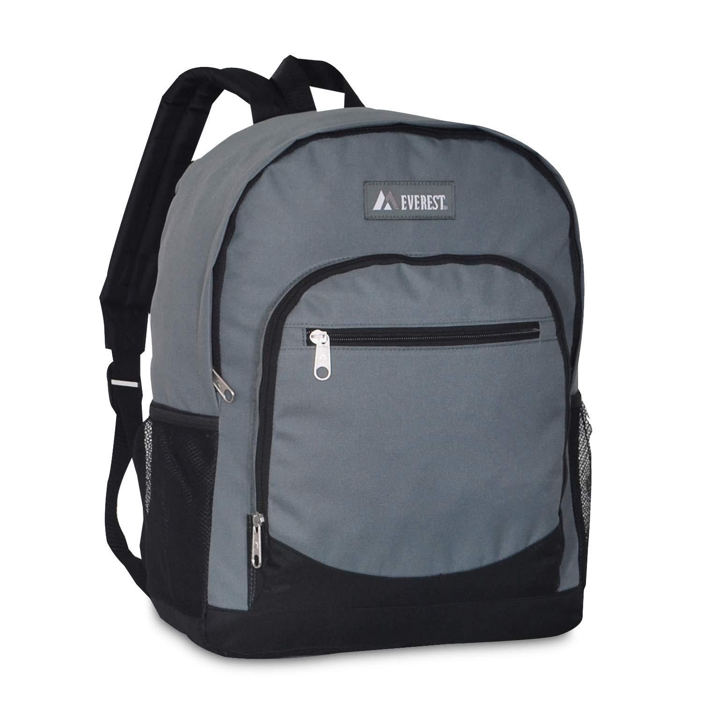 DollarItemDirect エベレストカジュアルバックパック サイドメッシュポケット付き 30個入りケース グレー 6045-Day B07L1WLVSN ダークグレー