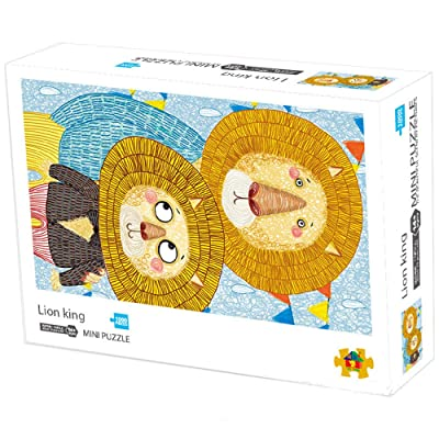 Adult Puzzle Lion King Jigsaw Puzzle | VIWIK 1000 Piece Jigsaw Puzzle Lion King Carton Painting for Kids | Gifts for Mother's Day Toys for Boys and Girls 16.5x11.7 inch: Toys & Games