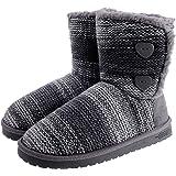 shoeslocker Women's Warm Plush Bootie Slippers