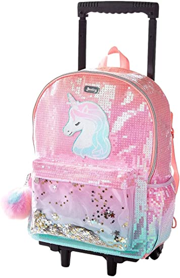 Amazon Com Justice Kids Rolling Backpack For Girls Cute