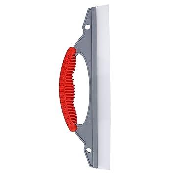 Escobilla de goma de silicona premium de Bonorum - perfecta para el secado rápido de coches, duchas o ventanas - hoja flexible extra-ancha de 30 cm: ...