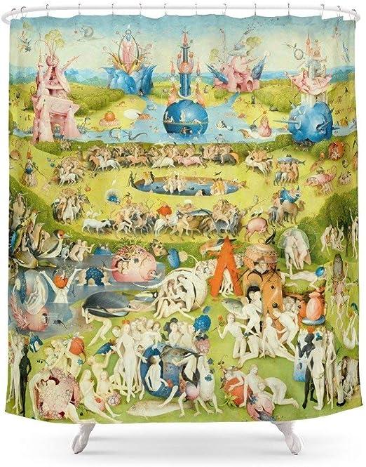 Suminla-Home Cortina de Ducha para el baño del jardín de Las delicias de la Tierra de Bosch, 182,88 x 182,88 cm: Amazon.es: Hogar