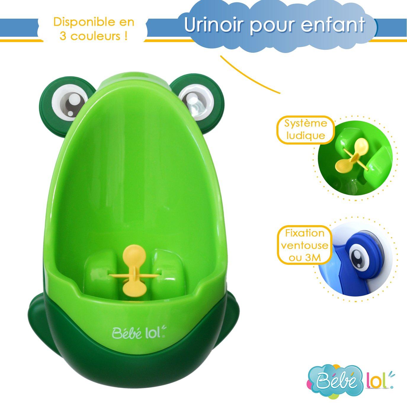 Pot urinoir b/éb/é pour enfant B/éb/élol/® en forme de grenouille aux couleurs vives Coloris au Choix orange vert