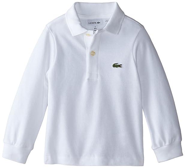 Boys White Lacoste Polo Shirt