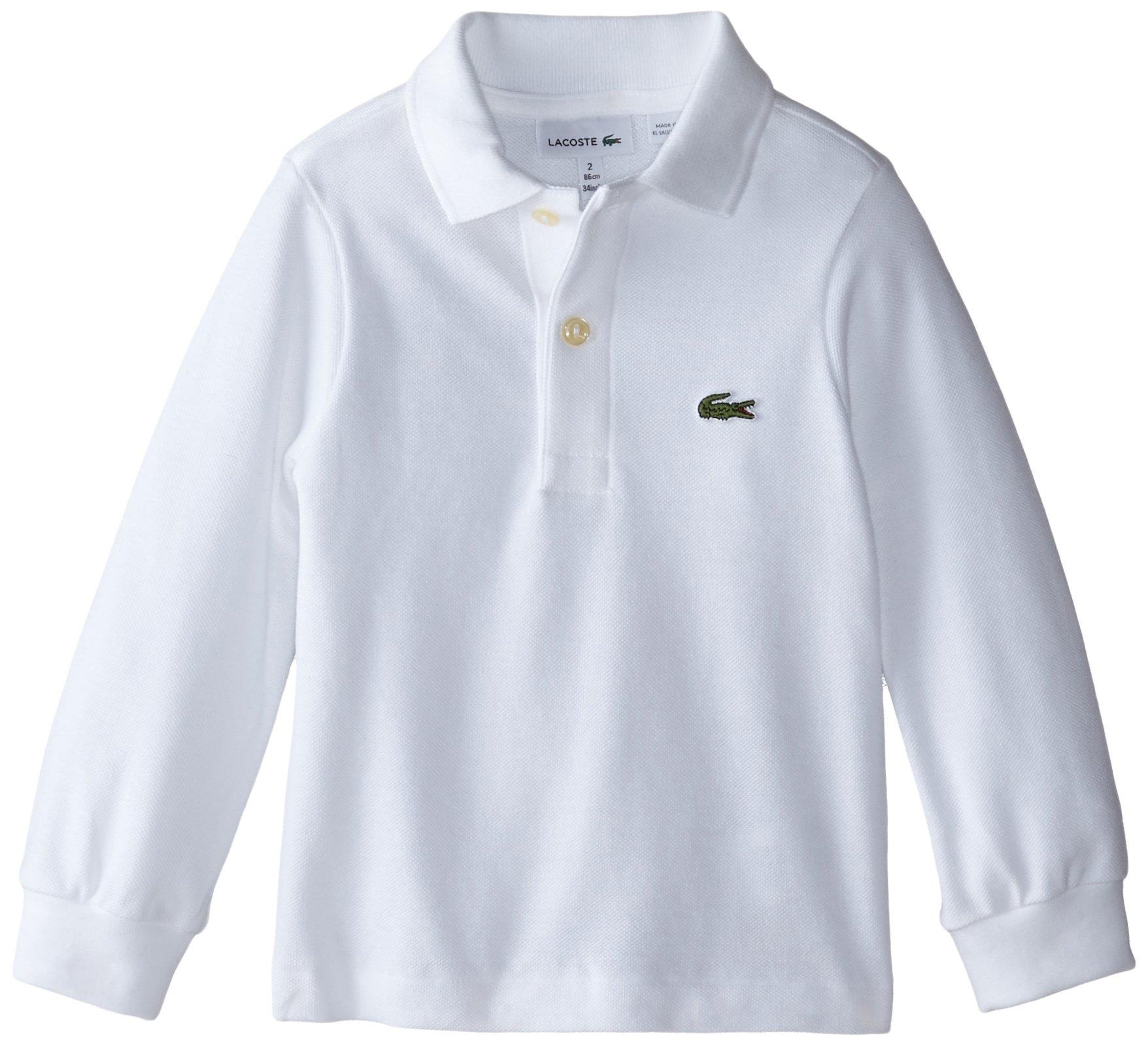 Galleon lacoste big boys 39 long sleeve classic pique polo for Boys lacoste polo shirt
