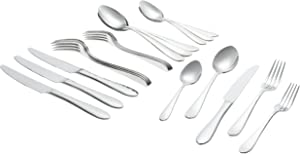 Ginkgo International Starlight 20-Piece Stainless Steel Flatware Place Setting, Service for 4