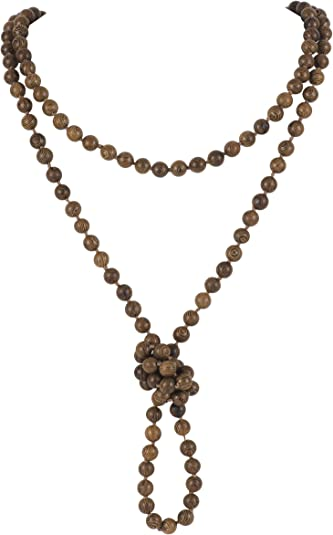 "36/"" Long Statement Shiny Gold Bead Strand Necklace"