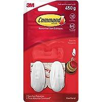 3M, Command, Gancho Adesivo Design, Branco, Pequeno, 2 Unidades